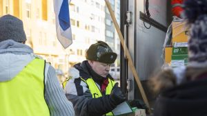 Heikki Hursti itsenäisyyspäivänä Hakaniemessä 2016