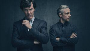 Uuden Sherlockin pääosissa nähdään Benedict Cumberbatch ja Martin Freeman.