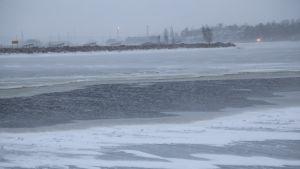 Kotkan merivartioaseman rannassa jäät ovat olleet tällä viikolla hyvin heikkoja.