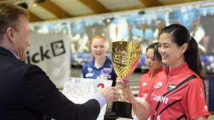Ballmaster-turnauksen voittaja Daphne Tan.