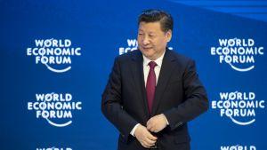 Kiinan presidentti Xi Jinping talousfoorumissa Sveitsin Davosissa, 17. tammikuuta 2017.
