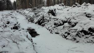 Rautjärven Nurmijärvellä kaivettu oja