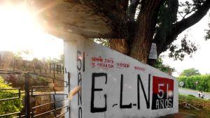 ELN:n seinämaalaus El Palon kaupungissa.