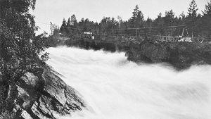 Imatrankosken ylittävä köysirata vuonna 1872-1881