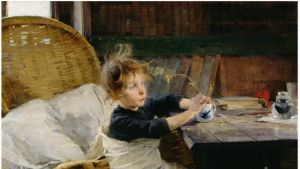 Helene Schjerfbeck: Toipilas (1888).