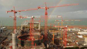 Flamanvillen ydinvoimalan rakennustyömaa marraskuussa 2009.