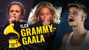 Grammy-gaalan kiinnostavimpiin artisteihin kuuluvat Adele, Beyoncé ja Justin Bieber.