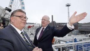 Irlannin ulkoministeri Charles Flanagan tapasi Timo Soinin Helsingissä 10. helmikuuta 2017.