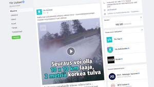 Kuvakaappaus Facebook videosta.