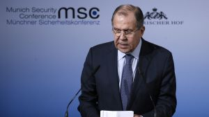 Venäjän ulkoministeri Sergei Lavrov kuvattuna Münchenin turvallisuuskonferenssissa 18. helmikuuta 2017.
