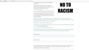 Joensuun seudun rasismin vastaisen työryhmän rasismi-ilmoitus lomake JOMONIn verkkosivuilla.