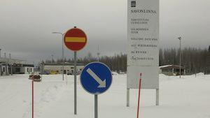 Opasteita Savonlinnan lentokentällä