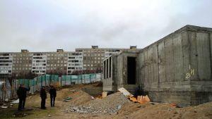 Murmanskin luterilaisen kirkon rakennustyömaa
