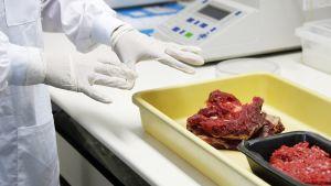 Lihaa tutkitaan laboratoriossa Rio de Janeirossa