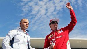 Valtteri Bottas ja Kimi Räikkönen.
