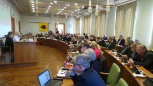 Porin kaupunginvaltuuston kokous huhtikuussa 2017.
