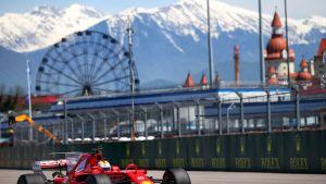Ferrari Sotshin F1-radalla.