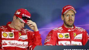 Kimi Räikkönen, Sebastian Vettel