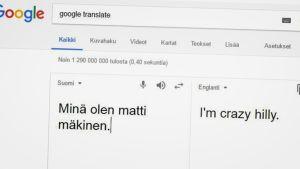 Google käännös matti mäkinen