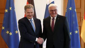 Presidentti Sauli Niinistö ja Saksan liittopresidentti Frank-Walter Steinmeier