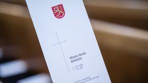 Mauno Koiviston hautajaisten ohjelma.