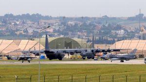 Turkin Adanan kaupungin läheisyydessä sijaitseva Incirlikin lentotukikohta kuvattuna 18. toukokuuta.