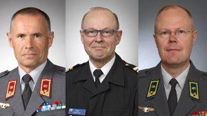 Kyösti Halonen, Timo Junttila ja Vesa Virtanen.