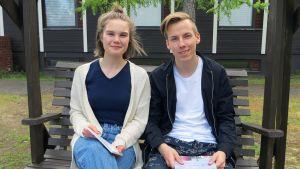Ella Heikkinen ja Joni Määttä.
