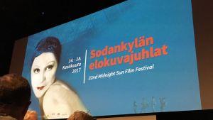 Sodankylän elokuvajuhlien ison teltan valkokangas 2017