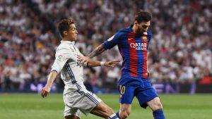 Cristiano Ronaldo (vas.) Lionel Messi.