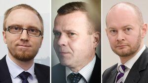Simon Elo, Petteri Orpo ja Sampo Terho