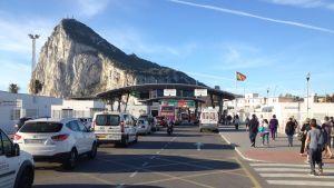 Gibraltarin ja Espanjan raja.