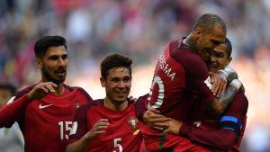Portugali juhlii Cristiano Ronaldon tekemää maalia.
