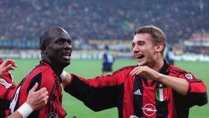 Milanin George Weah ja Andri Ševtšenko vuonna 1999.