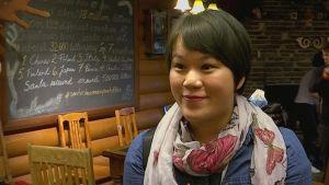 Erica Wang joulupukin posti Rovaniemi