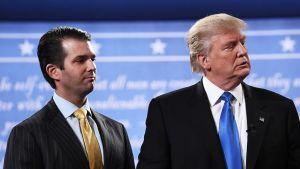 Poika Donald Trump Junior ja isä Donald Trump.
