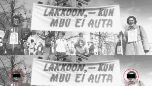 Arkistokuva ammattiliiton mielenosoituksesta.