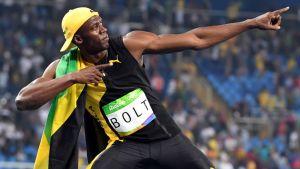 Usain Bolt ja hänen tunnusmerkkinsä: Bolting-poseeraus.