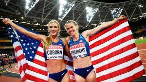Emma Coburn ja Courtney Frerichs