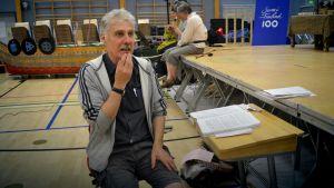 Joose Tammelin Satu Sammosta -musikaalin harjoitusleirillä.