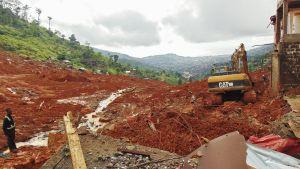 Maanvyöry Sierra Leonessa.