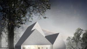Trinitas-niminen ehdotus Ylivieskan uudeksi kirkoksi.
