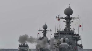 Etelä-Korean laivasto harjoituksissa syyskuun alussa 2017.