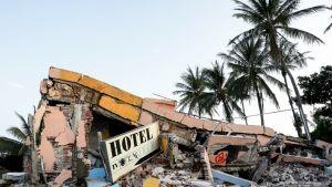 Maanjäristyksessä tuhoutunut hotelli Oaxacassa Meksikossa 9. syyskuuta.