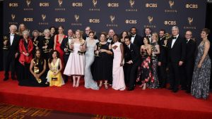 Ryhmäposeeraus Emmy-gaalassa.