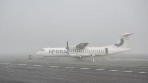 Lentokone sumussa.