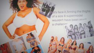 Pluskokoisia naisia mainoksissa