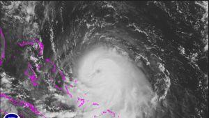 Vuonna 2015 riehunut hurrikaani Joaquin satelliittikuvassa