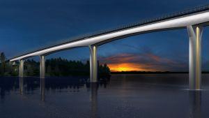 Havainnekuva Vekaransalmen sillasta