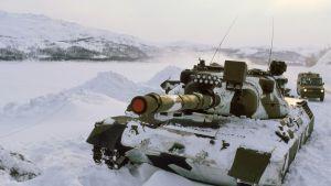 Norjan armeijan Leopard-panssarivaunu.